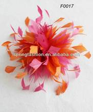 Feather millinery flower for decoration