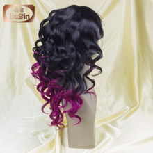 Ombre Wig Cheap Fashion Female Beauty Curly Two-tone Human Hiar Wigs African American Short Curly Wig For Black Women