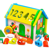 2015 wooden educational toys removable toy house