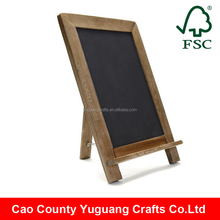 Rustic Wedding Kitchen Deco Free Standing Wood Blackboard and Shabby Chic Chalkboard