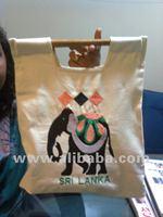 Handloom Bag with Bamboo Handle & Embroidery