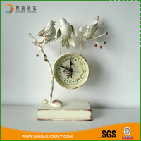 Home decor custom antique decorative desk table clock