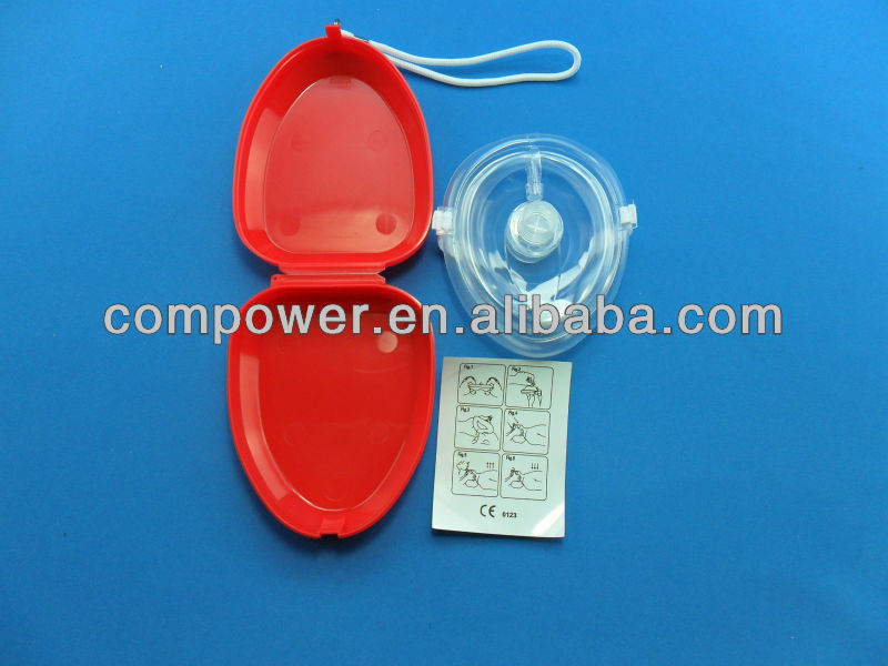 CPR Mask for adult and child w/ one-way valve