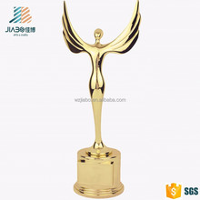 custom zinc alloy gold plated Irregular Shape metal trophy