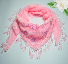 New Fashion Scarf Lady Lace Print Long Shawl Scarve Wrap Stole