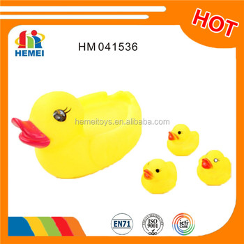 2016 bath toys rubber family ducks