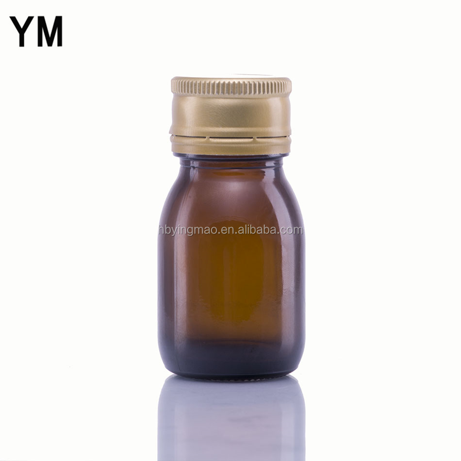 YM 20ml 30ml oral liquid syrup glass brown bottles with tamper evident cap
