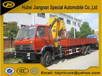 Dongfeng 10ton knuckle boom truck mounted crane