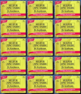 15 Bars Dr. Kaufmann Sulfur Zinc Oxide Medicated Soaps