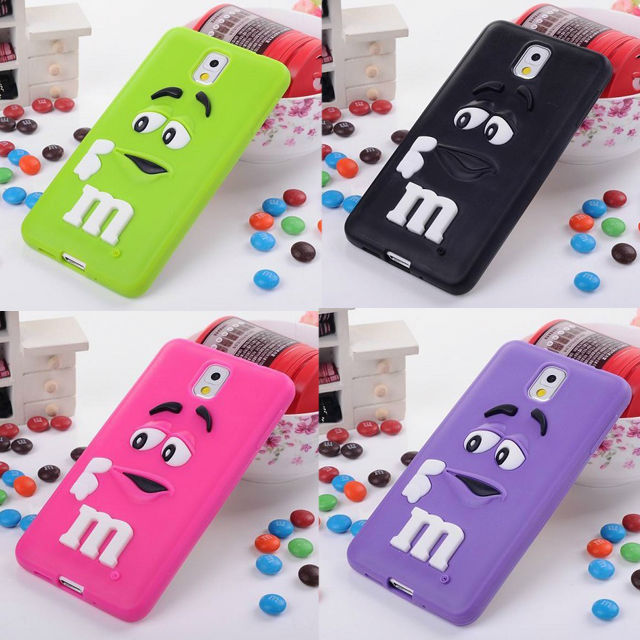 Cute Rainbow Bean Silicone Case for Samsung Galaxy Note 3