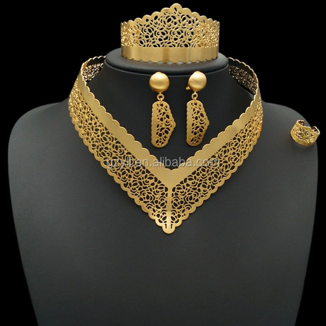 wholesale African costume jewelry set 2015 Pakistani Bridal Jewelry Sets 24k Gold Dubai Jewelry Set
