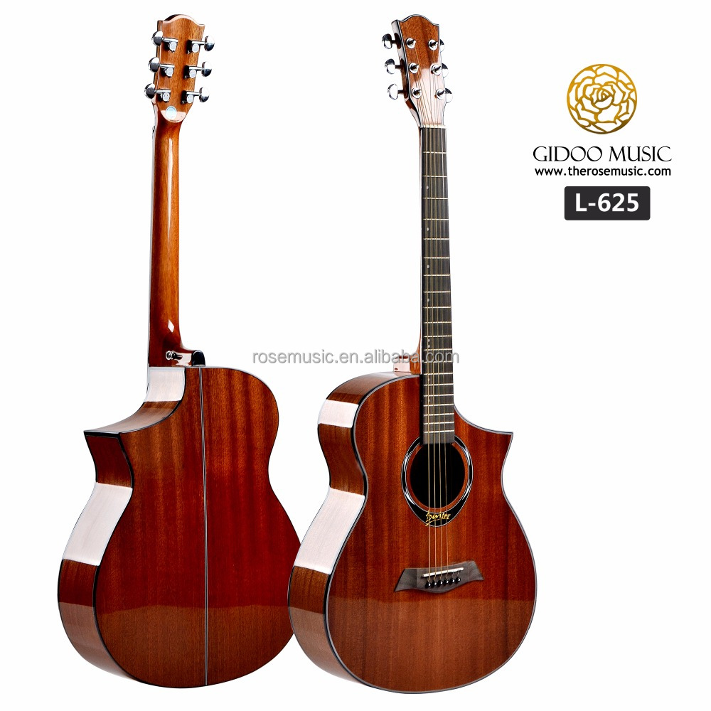 High gloss pickup acoustic guitar full sapele best music instruments prices L625
