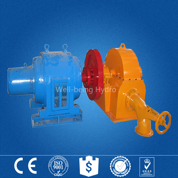 Alibaba China supplier high quality mini hydropower water turbine pelton wheel