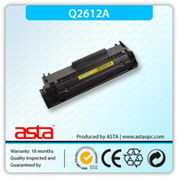 2016 qt toner cartridge Q2612A 12a black toner cartridge