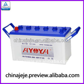 Dry car battery N110 12V110AH AYOYA