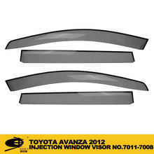 Auto Sun Visor Rain Deflector Weather Guard INJECTION DOOR VISOR FOR TOYOTA AVANZA 2012