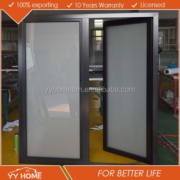 YY Home hot sale double glass aluminium soundproof exterior metal french doors