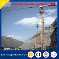 used building tower crane, 43m height 5013 type boom crane, slewing jib tower crane for sale in dubai