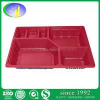 disposable PP food compartment lunch containers