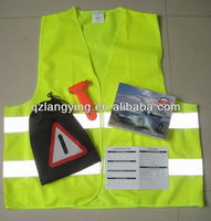 CE Emark Car Emergency Kit with Safety Vest and Warning Triangle