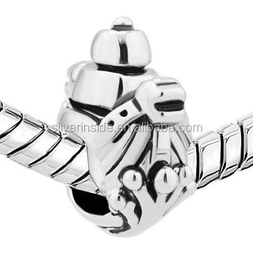 bulk charms wholesale Hot sell High quality Viking Ship Silver Plated For Beads Charms Bracelets