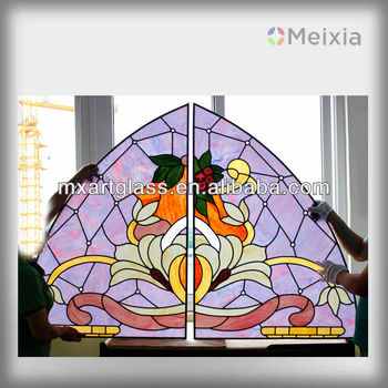 2013 customized tiffany style stained glass panel for wall decoration