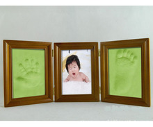 Wholesale moq 10set high quality baby footprint crafts