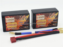 VANT brand rc car hard case saddle /square lipo battery pack 6000mah 100c 7.4 with better price and better quality