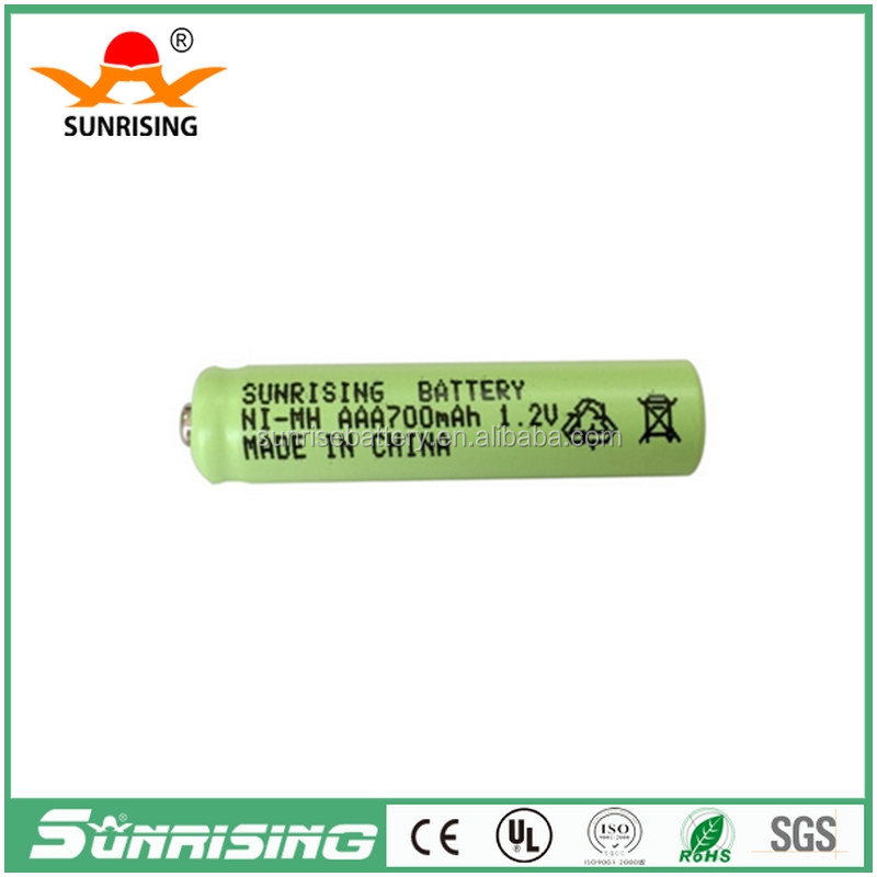 China manufacture Sunrise Battery aaa 700mah 1.2v ni-mh rechargeable battery for toys