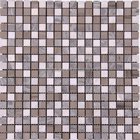 SKY-M012 White Gray Swimming Pool Fish Scale Shaped Marble Mosaic Tile