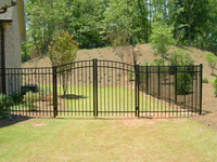 strong ornamental residential wrought iron fence