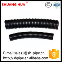 PA/PP/PE electrical plastic corrugated black colored flexible tubing/hose