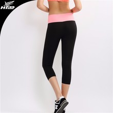 Stock sexy pregnant woman wearing sports wear wholesale tight ladies seamless gym leggings