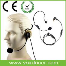 Single Ear Headband Wired Headphone Walkie Talkie Fancy Communication Headphone