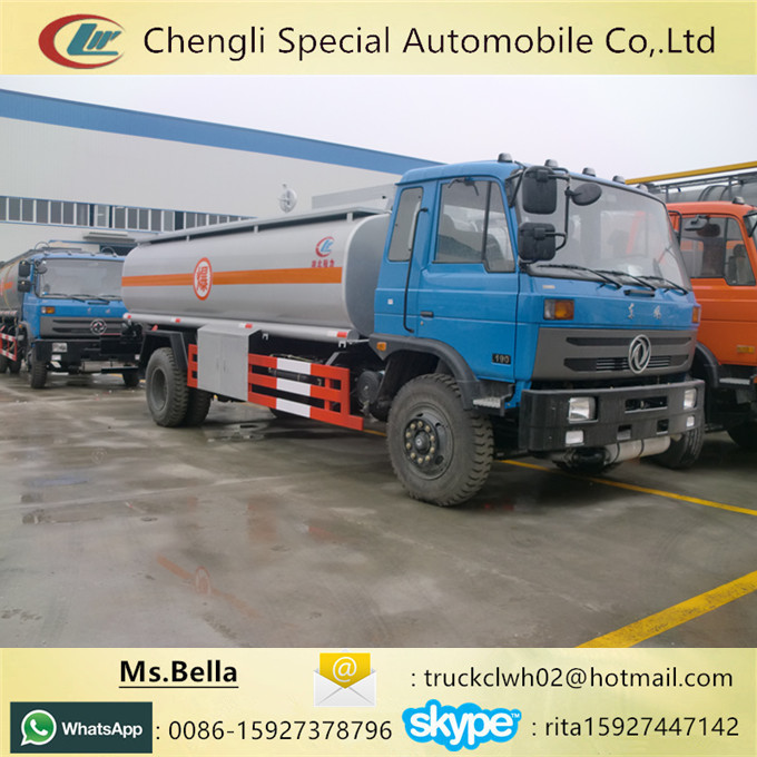 Fuel Transport Oil Delivery Tanker 15m3 DONGFENG Tanker Truck Price