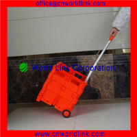Plastic Foldable Boot Cart for Shopping with the 35kg Loading