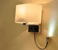 Mini LED Wall Reading Lamp With Two Light/Switch