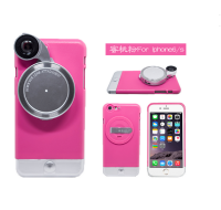 New Fashion 4 in 1 photograph phone case for iphone 6 Wide Angle camera lens phone case for iphone 6