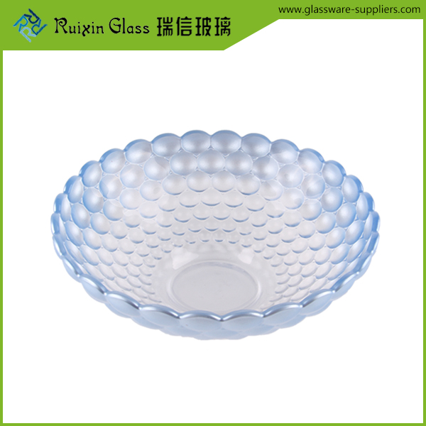 Factory price 29oz round tempered glass fruit plate,antique glass cake plates for decoration