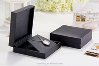 Black Paper Pendant Box Pearl Pendant Box Jewelry Case With Stand Insert