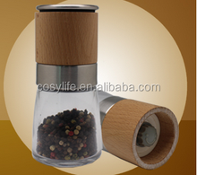 Manual Glass Salt and Pepper Grinder Pepper Castor Salt Bottle
