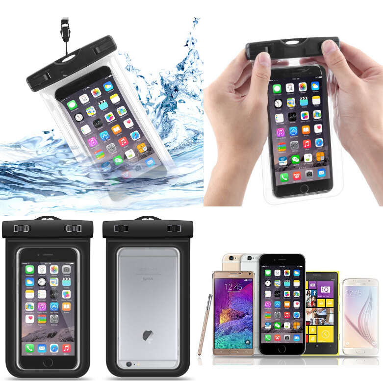 for iphone 6, for iphone 6plus, Waterproof Underwater Touchscreen Mobile Phone Pouch Dry Bag Cover Case for Iphone and Samsung