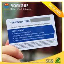 4color manufacture printing telecom Plastic scratch calling card