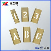 Adjustable Brass Stencils Letters/Numbers 1 in 46 Piece Set ,Drawing Stencils factory