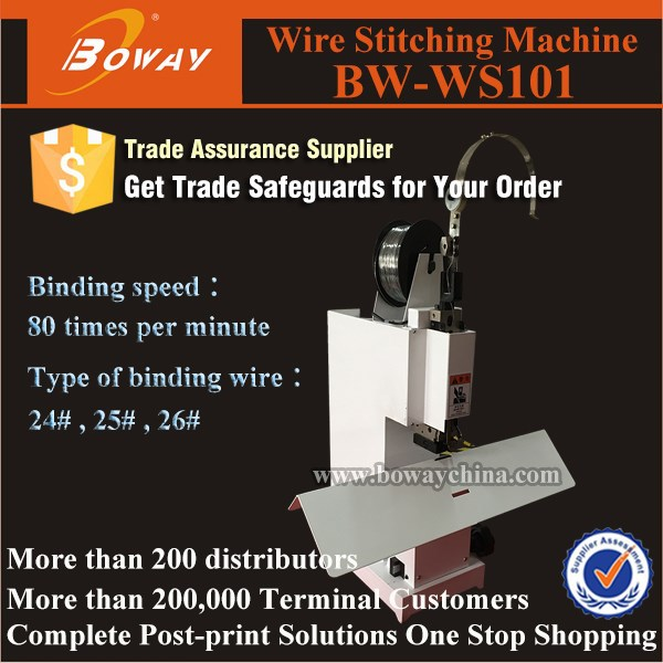 Tabletop office use book iron wire saddle stitcher