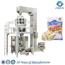 Automatic nougat packaging machine for repacking bag with euro hole