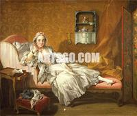 Canvas Print of Woman Portrait Painting