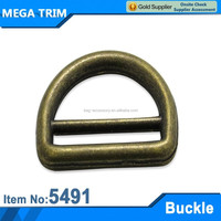 No.5491 D shaped brass flat buckles belt for handbag