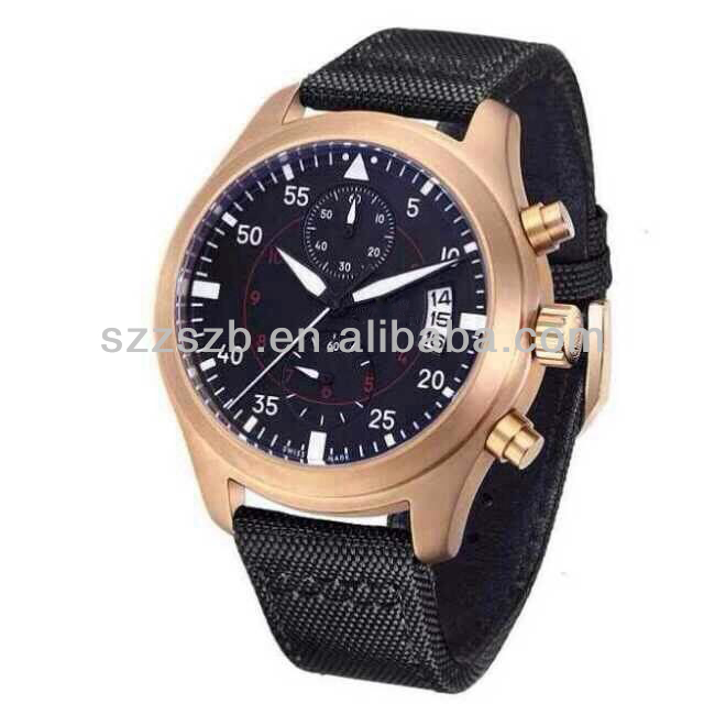 men's business watch ,rose gold swiss watch for man top brand quality watch for men