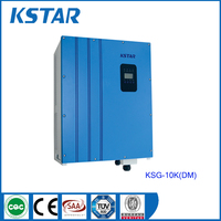 10kw solar system solar kit grid tie connected dc to ac 380Vac pure wave sine wave low fequency inverter for on grid solar power